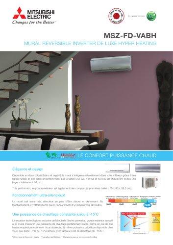 Mural Réversible Inverter de luxe (MSZ-FD)
