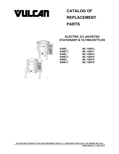 ELECTRIC 2/3 JACKETED STATIONARY & TILTING KETTLES