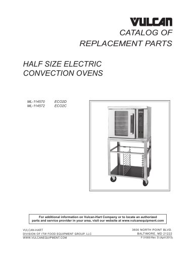 HALF SIZE ELECTRIC CONVECTION OVENS