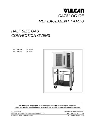HALF SIZE GAS CONVECTION OVENS