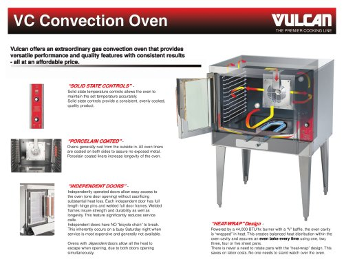 VC series Convection Oven