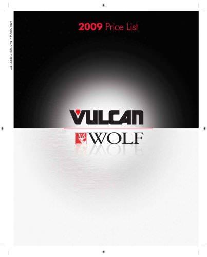 VULCAN 2009 pricelist