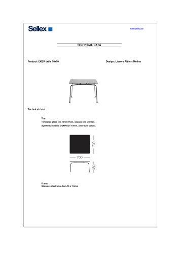 EKER table 70x70
