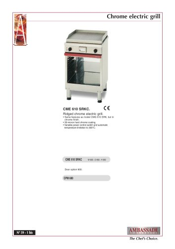 Chrome Electric grills:CME 610 SRKC