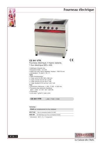 Fourneaux électriques:CE 841 VTR