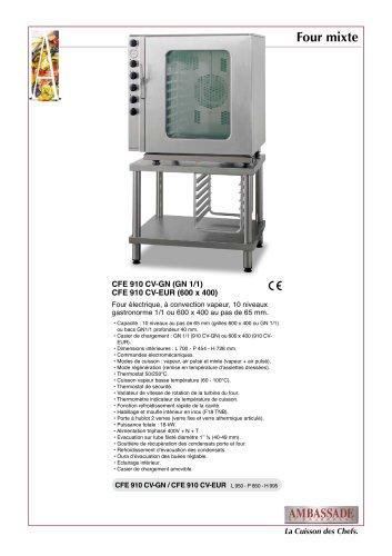 Fours mixtes:Four électrique air pulsé / vapeur,CFE 910 CV