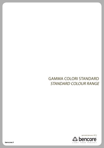 STANDARD COLOUR RANGE
