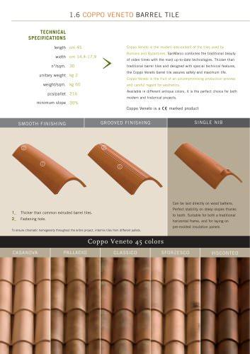Roof system:Coppo Veneto Bent Tile
