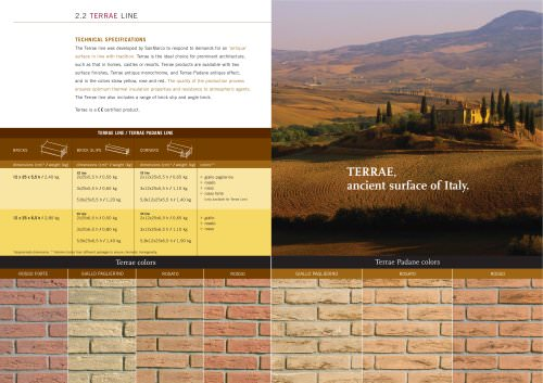 Wall System: Terrae line