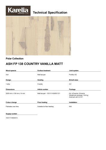 ASH FP 138 COUNTRY VANILLA MATT