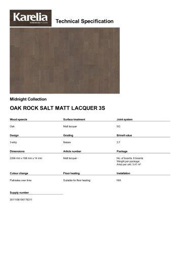 OAK ROCK SALT MATT LACQUER 3S