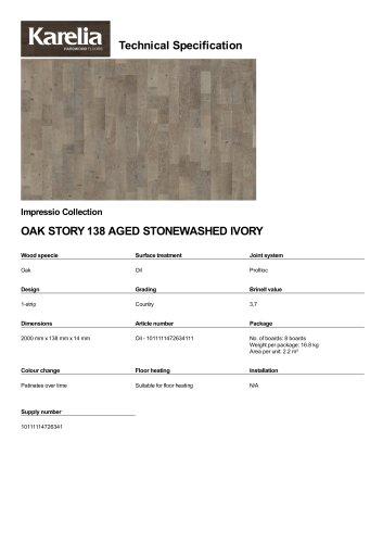 OAK STORY 138 AGED STONEWASHED IVORY