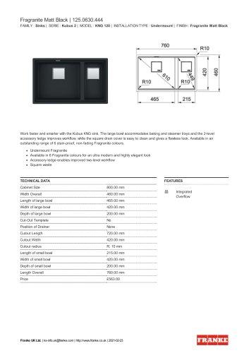 Fragranite Matt Black   125.0630.444