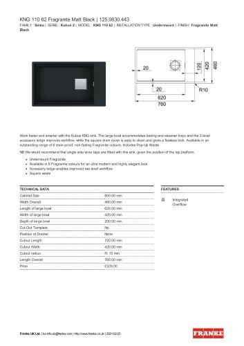 KNG 110 62 Fragranite Matt Black   125.0630.443