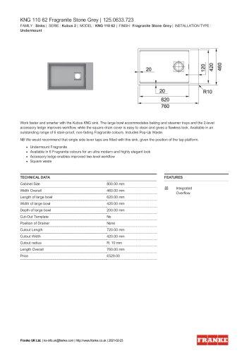 KNG 110 62 Fragranite Stone Grey   125.0633.723