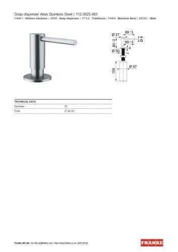 Soap dispenser Atlas Stainless Steel   112.0625.483