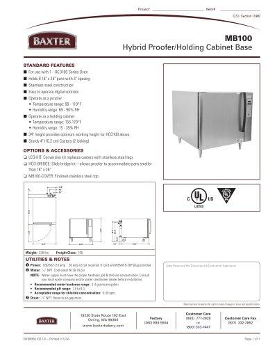 MB100 Hybrid Proofer/Holding Cabinet Base