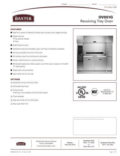 OV851G - Revolving Tray Oven