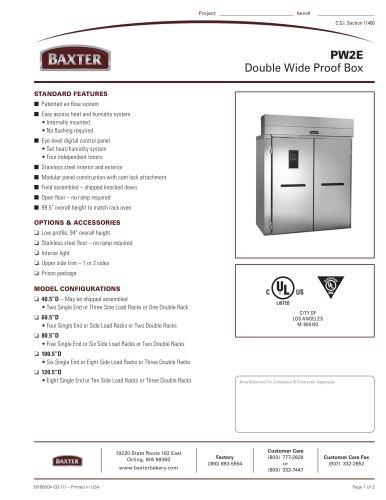 PW2E - Double Wide Proof Box