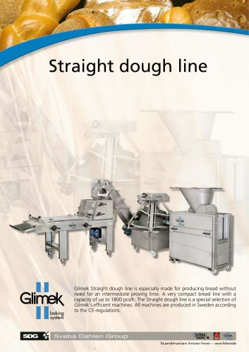 Straight dough line