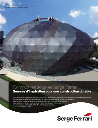 Composites souples pour une construction durable