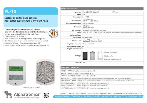 Lecteur des cartes RFID PL-10