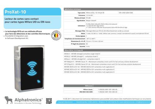 Lecteur des cartes RFID ProXat-10