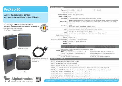 Lecteur des cartes RFID ProXat-50