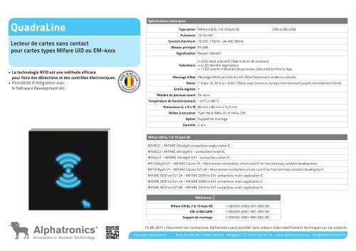 Lecteur RFID QuadraLine