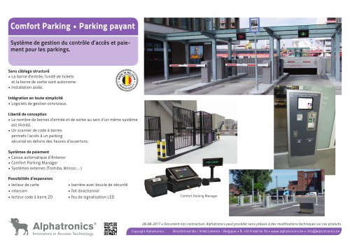 Parking payant • Comfort Parking