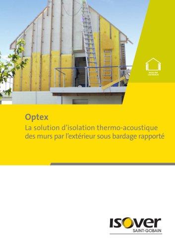 Optex, solution d'isolation thermo-acoustique des murs par l'extérieur sous bardage rapporté