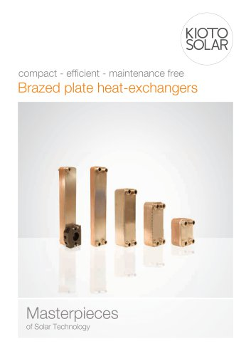 Brazed plate heat-exchangers Masterpieces of