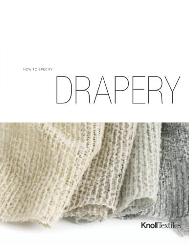 KnollTextiles How To Specify Drapery