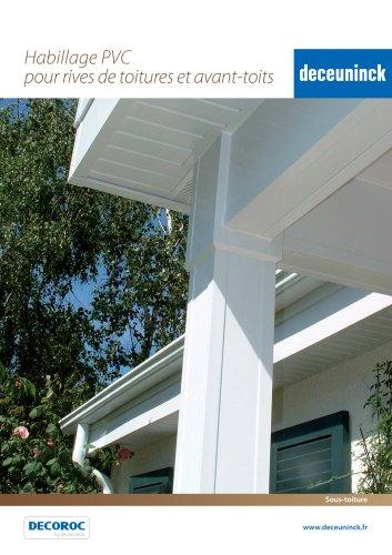 Habillage PVC  pour rives de toitures et avant-toits