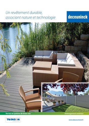 Lames composites pour terrasses et panneaux d'occultation