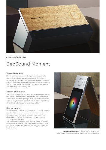 BeoSound Moment