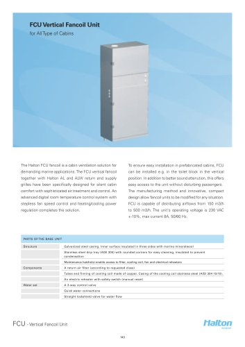 FCU Vertical Fancoil Unit