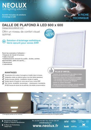 Dalle De Plafond à Led 600 X 600 Nlx Catalogue Pdf