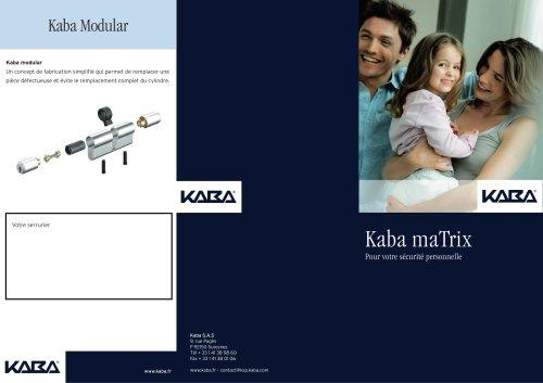 Cylindres de serrures - Kaba maTrix