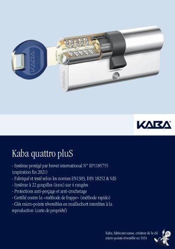 Cylindres de serrures - Kaba quattro pluS