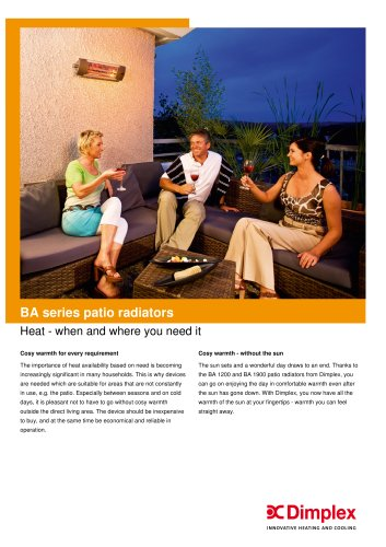 BA series patio radiators
