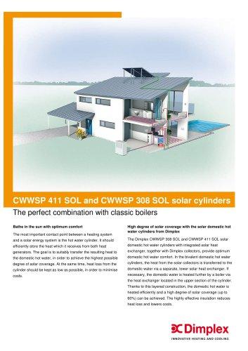 CWWSP 411 SOL and CWWSP 308 SOL solar cylinders