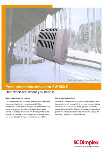 Frost protection convector FW 550 S