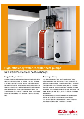 High-efficiency brine-to-water heat pump