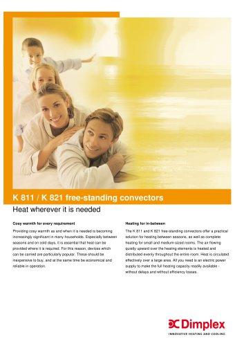 K 811 / K 821 free-standing convectors