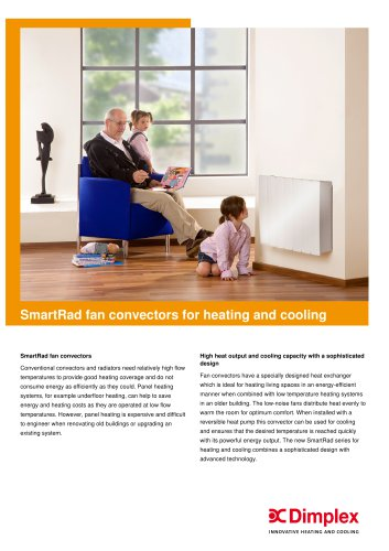 SmartRad fan convectors for heating and cooling
