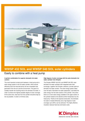 WWSP 432 SOL and WWSP 540 SOL solar cylinders