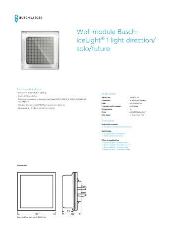Wall module Busch-iceLight 1 light direction/ solo/future