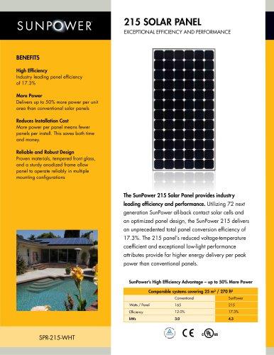215 Solar Panel Datasheet