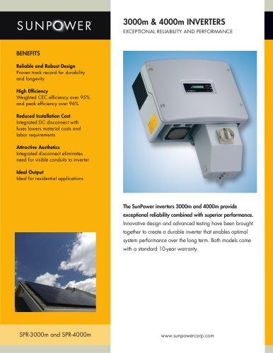 SPR-3000m Inverter Datasheet